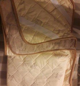 Двухспальный комплект из натуральной шерсти