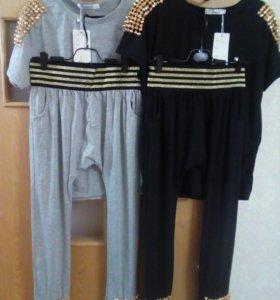 Трикотажные костюмы футболка и бриджи