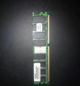 Оперативка Hynix DDR 1Gb, PC3200, DIMM, 400 mHz