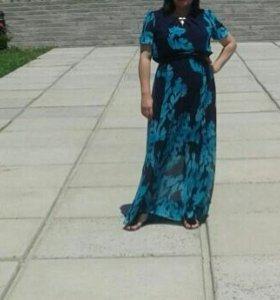 Платье в пол,с ремешком