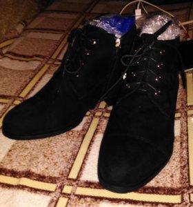 Ботинки зимние велюр/шерсть 38 р