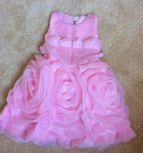 Новое платье из роз для девочки
