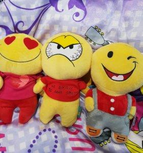 Мягкие игрушки смайлики
