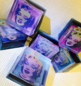 Мыло с лейблами handmade