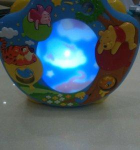 Ночник детский с проектором, музыкальный.