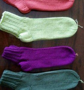 Носки ручной работы,детские,взрослые, лен-хлопок