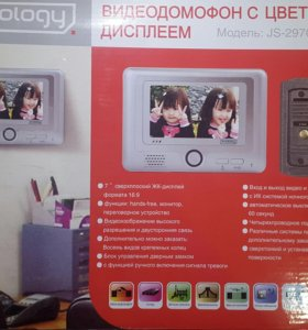 """Видеодомофон """" JS-297C + BC4 """" цветной дисплей"""