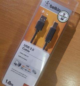 Кабель USB 2.0 / 1.8M для принтера ( оргтехники )
