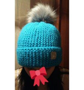Очень теплая шерстяная шапка .новая..