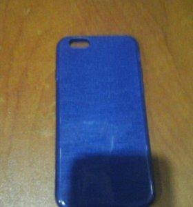 чехол синий для  айфона6с