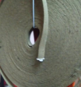 Лента ХБ 45м 20мм зеленая