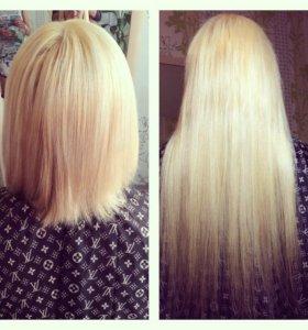 Горячее наращивание волосиков