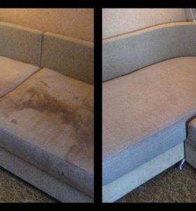 Чистка мебели и ковров.