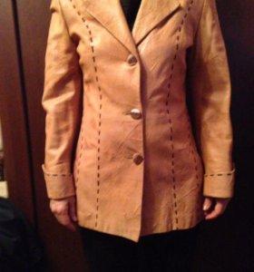 Куртка-пиджак кожаная