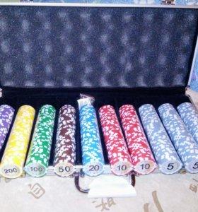 Покерный набор на 500 фишек новый
