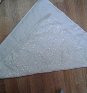 Одеяло и уголки с лентой