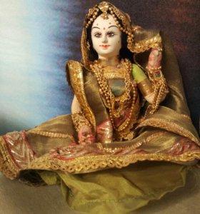Кукла из Индии в нац.костюме,ручная работа