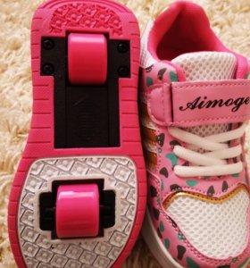 Новые кроссовки- ролики