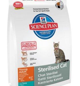 Корм Хиллс 3,5 кг для кастрированных котов и кошек