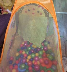 Палатка с шарами