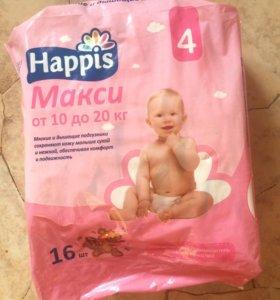 Детские подгузники Happis макси от 10 до 20 кг