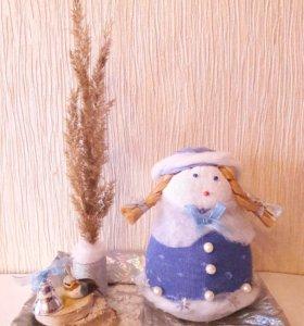 Снегурочка поделка, подарок в сад, школу