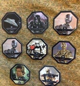 Фишки карточки Звездные войны