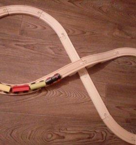 Деревянная- железная дорога.