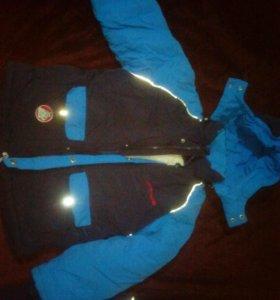 Зимняя куртка и брюки на лямках