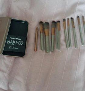 Кисти для макияжа,12 шт
