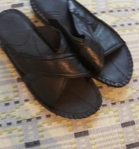 Шлёпки мужские кожаные