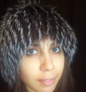 Зимняя шапка из песца