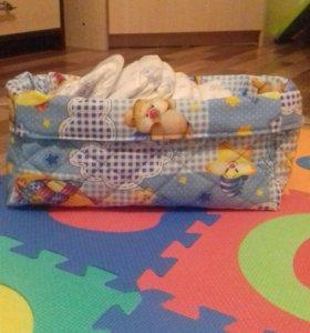 Текстильная корзинка для памперсов