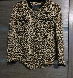 Рубашка леопардовая