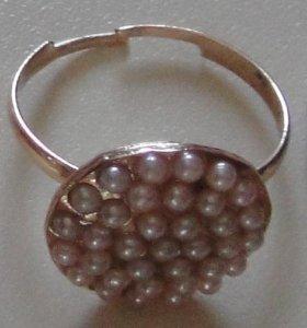 Кольцо бижутерное под жемчуг
