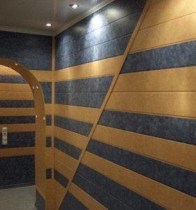 Монтаж пластиковых панелей,МДФ (стены,потолок)