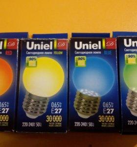 разноцветные LED лампы
