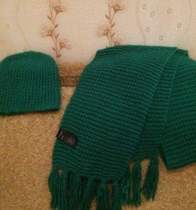 Комплект:шапка и длинный шарф