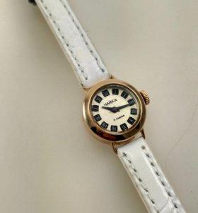 Золотые часы Чайка 1601