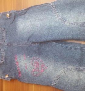 Комбинезон джинсовый для девочки. Размер 24 мес.