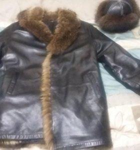 Мужская зимняя куртка + шапка