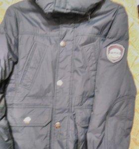 Куртка пуховик на 9-12 лет