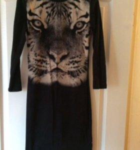Платье тигр