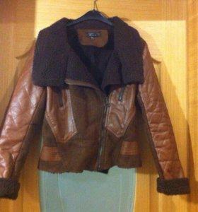 Теплая куртка на овчинном меху Topshop