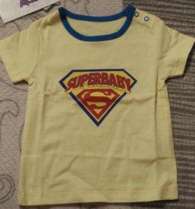 Новая детская футболка, 62-40