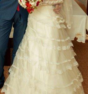 Свадебное Платье,на основе корсета