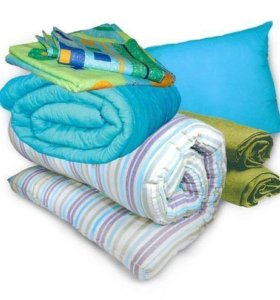 Комплект матрас подушка одеяло белье