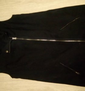 Черная   жилетка косуха,длинная