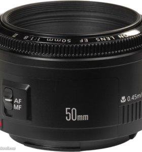 Объектив Canon 50mm for 1.8
