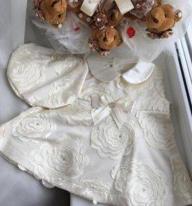 Новое!Платье с беретом